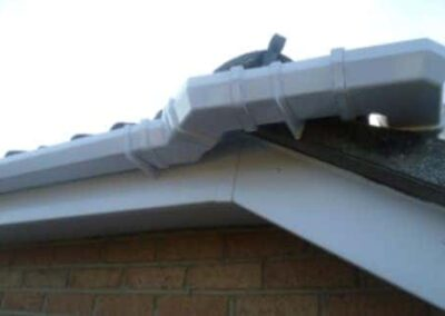guttering downpipe front view