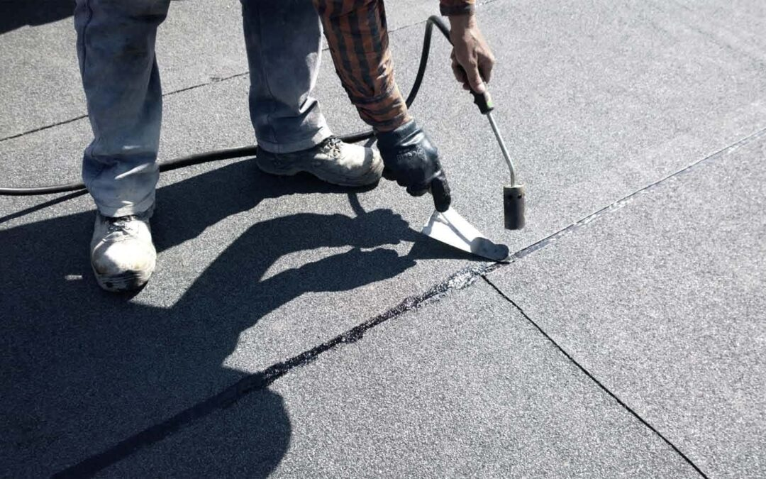 iroofing Torch on Flat Roof Repair